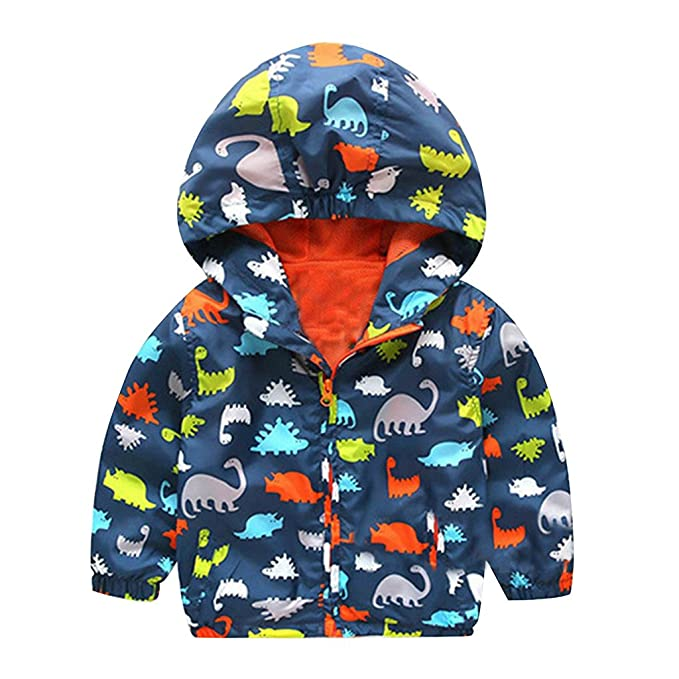 Amazon Com Animal Print Jacket Boy Hoodie White Winter Coat For