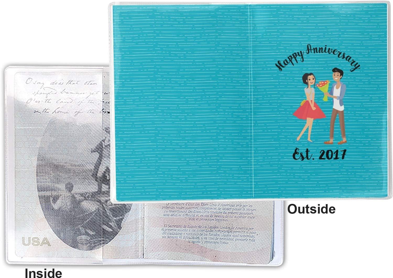 Personalized Happy Anniversary Vinyl Passport Holder