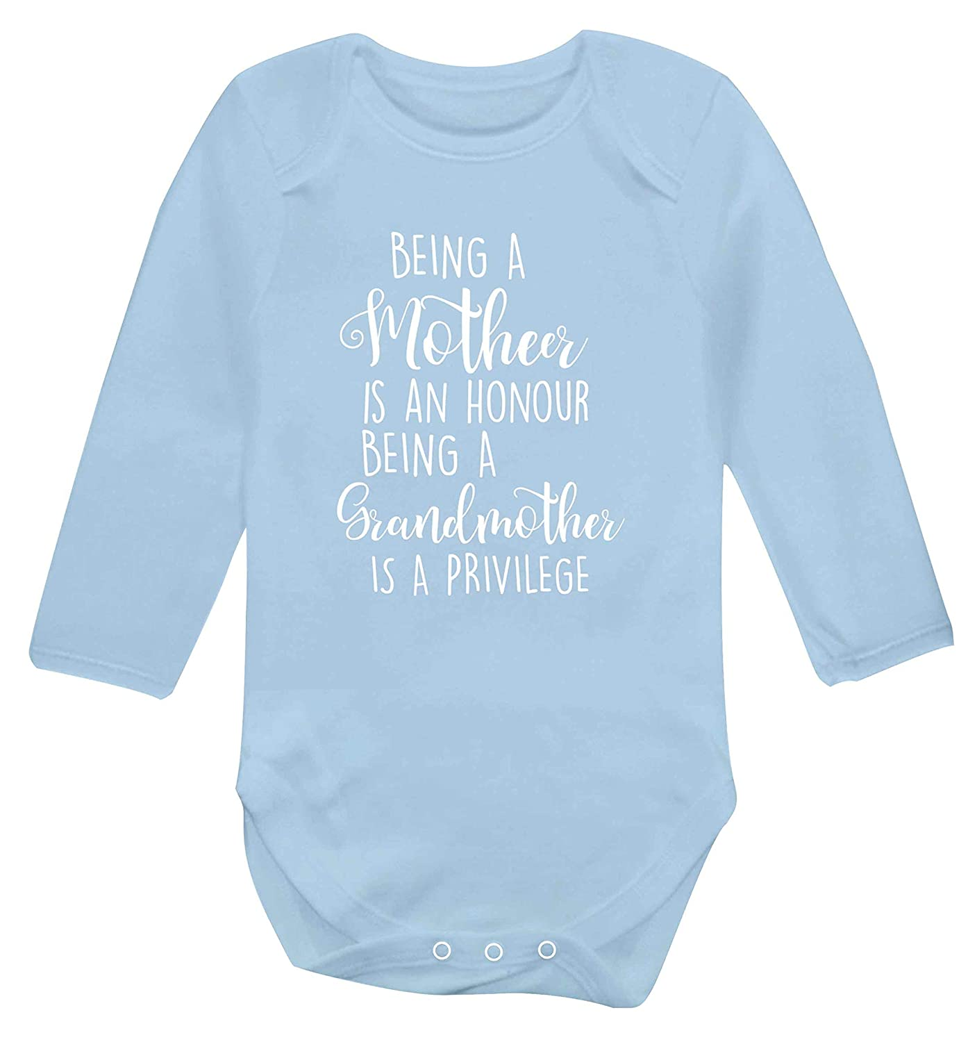 Flox Creative Long Sleeved Baby Vest Mother Honour Grandmother Privilege