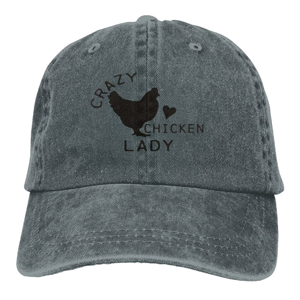 XZFQW Crazy Chicken Trend Printing Cowboy Hat Fashion Baseball Cap For Men and Women Black