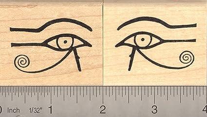Eye of Horus Left Rubber Stamp Egyptian