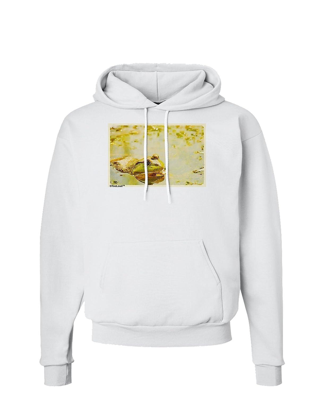 TooLoud Bullfrog in Watercolor Hoodie Sweatshirt