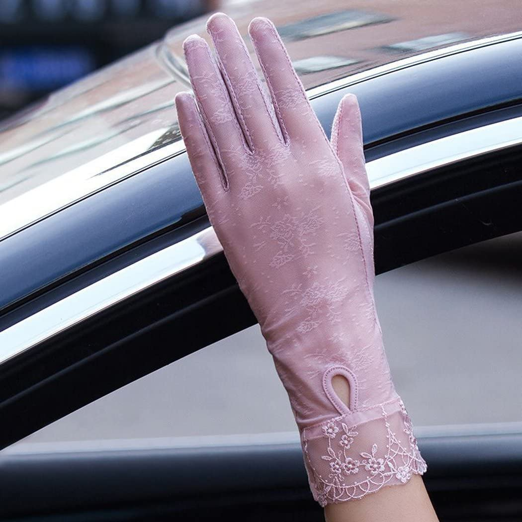 Zoylink Womens Sommerhandschuhe UV Schutzhandschuhe Anti Rutsch Touchscreen Fahrhandschuhe f/ür Damen