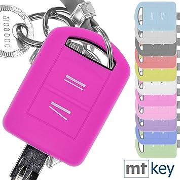 Key Soft Case Cover Funda Protectora Llave del Coche Opel Combo C Corsa C Meriva A Tigra TwinTop/Color: Rosa