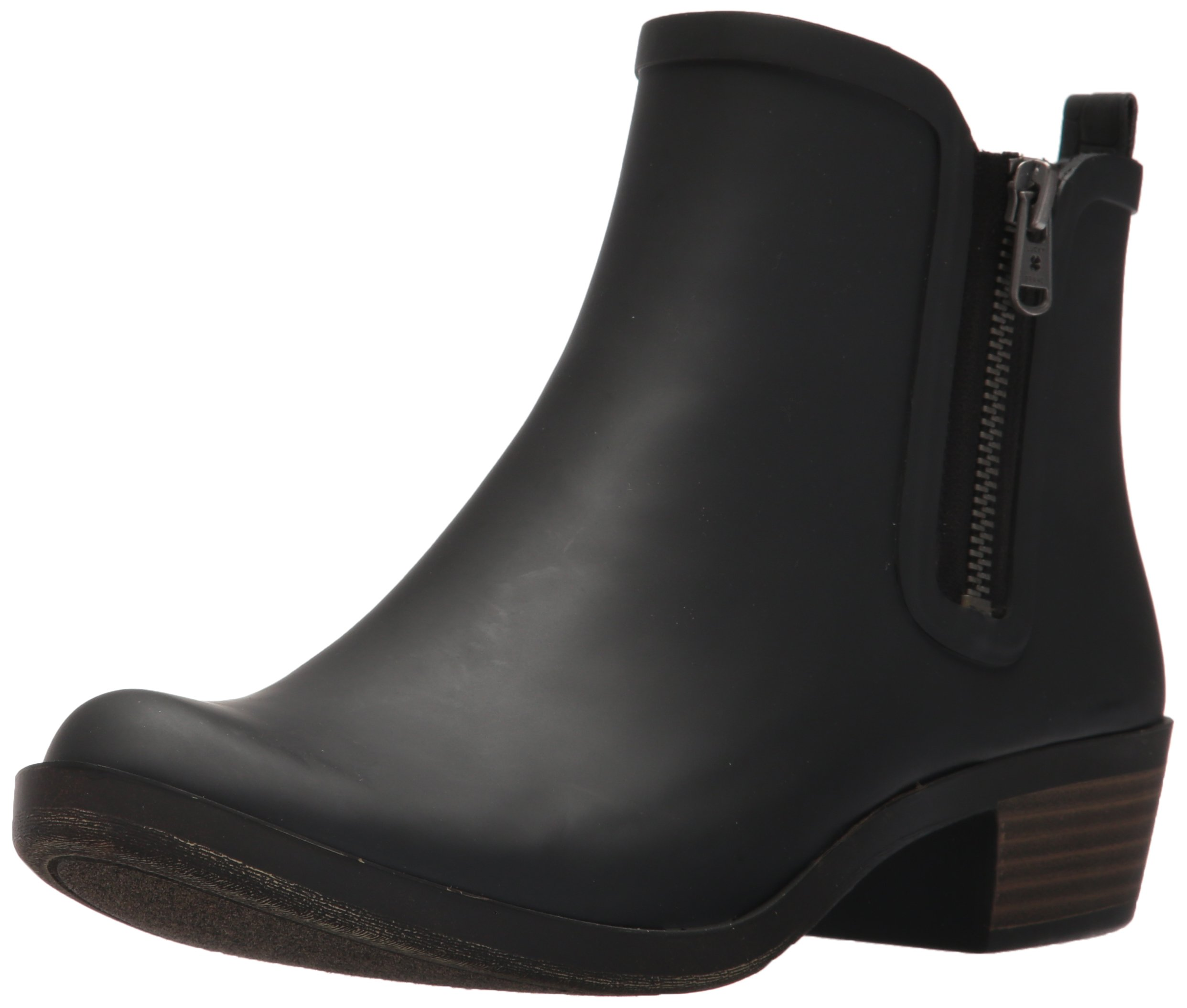 Lucky Brand Women's Baselrain Rain Boot, Black Crocodile, 10 Medium US by Lucky Brand (Image #1)