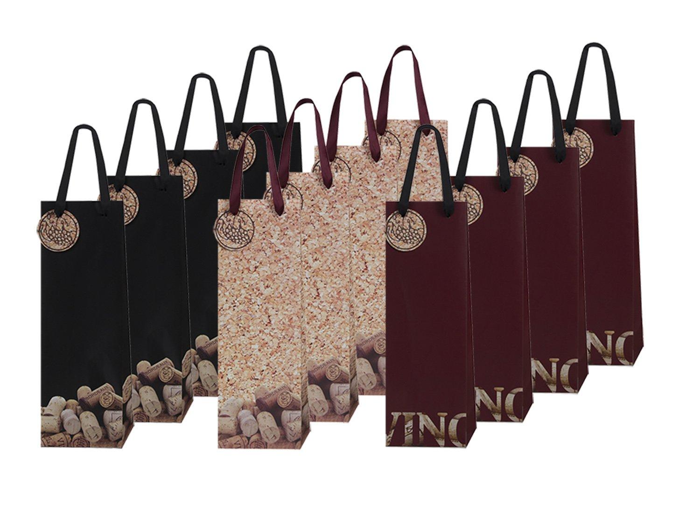 12 Piece Exclusive Wine Bags, 3 Handsome Designs ClickBlock Corporation HPW001