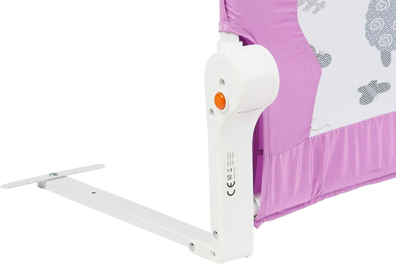 versch Abmessungen//Farben |102 cm Grau ib style/® My Little Farm Bettgitter Kinderbettschutzgitter