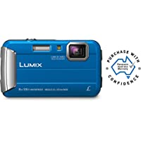 Panasonic Waterproof, Shockproof, Freezeproof, Dustproof Waterproof, Shockproof, Freezeproof, Dustproof Lumix FT30 Tough Underwater Digital Point and Shoot Camera, Blue (DMC-FT30GN-A)