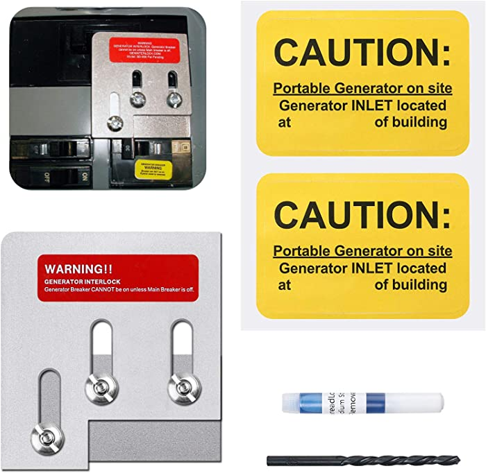 Generator Interlock Kit Compatible with Square D QO or Homeline 150 or 200 amp panels. 1 3/8 inches Spacing between main and generator breaker, Professional and Interlock Kit