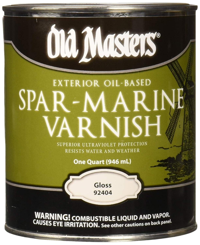 OLD MASTERS 92404 Spar Marine Varnish, Gloss