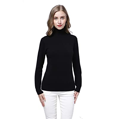 Acmewear Women's 100% Pure Cashmere Long Sleeve Pullover Turtle Neck Sweater at Amazon Women's Clothing store