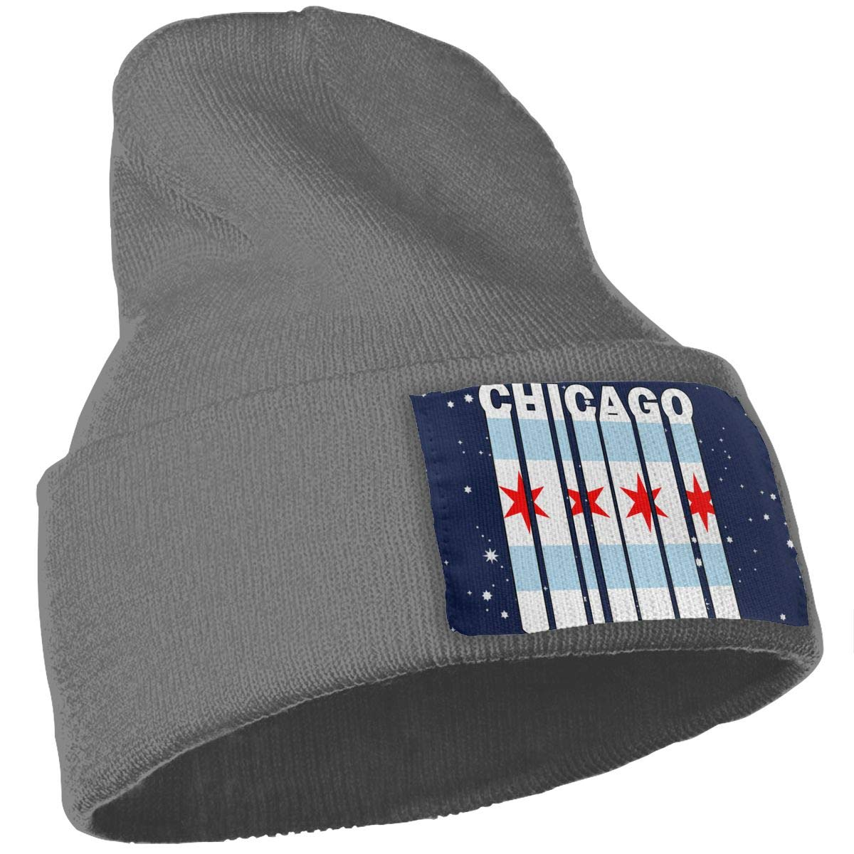 Chicago Flag Word Ski Cap Men Women Knitting Hats Stretchy /& Soft Beanie