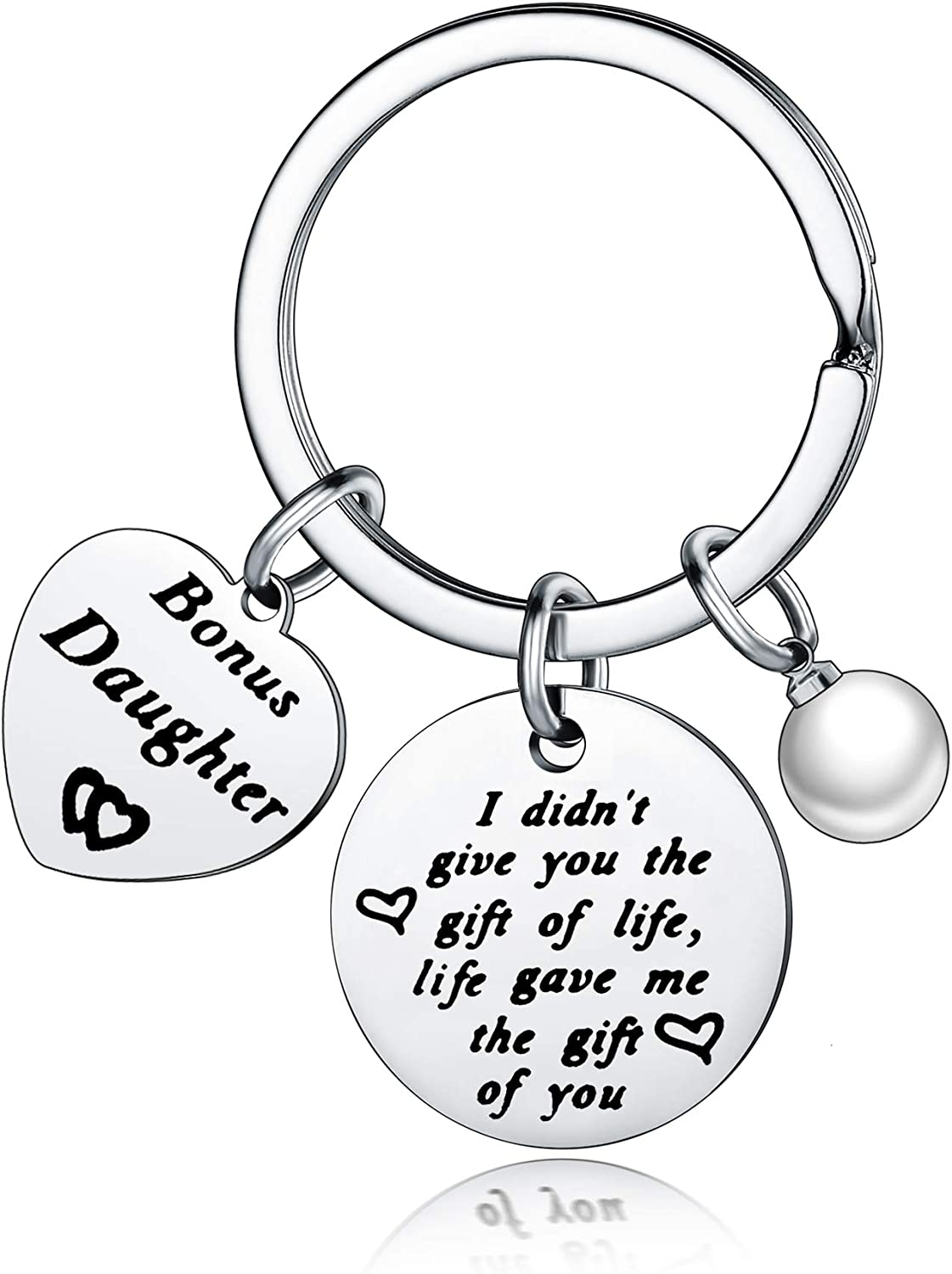 Nimteve Daughter Gifts from Mom I Didn/'t Give You The Gift of Life Life Gave Me The Gift of You Bonus Daughter Gifts
