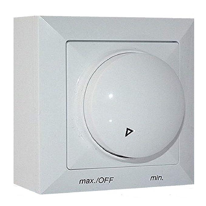 Aufputz Drehzahlregler 500 Watt Drehzahlsteuerung für Ventilator, Gebläse, Lüfter, Ventilatoren 230V /500watt Drehzahlregler,