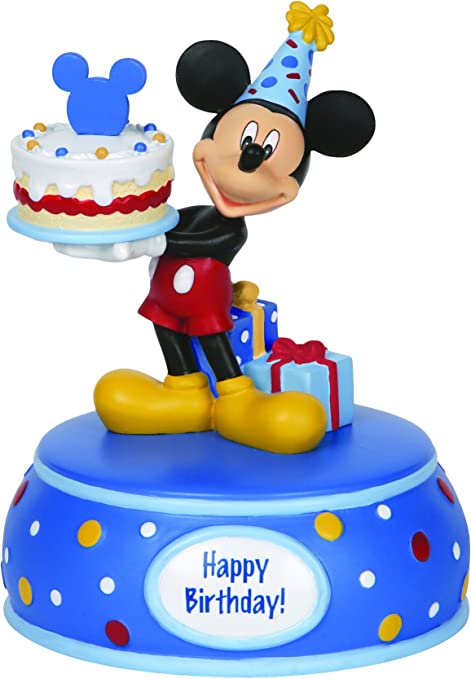 Terrific Amazon Com Precious Moments Disney Showcase Collection Mickey Personalised Birthday Cards Rectzonderlifede