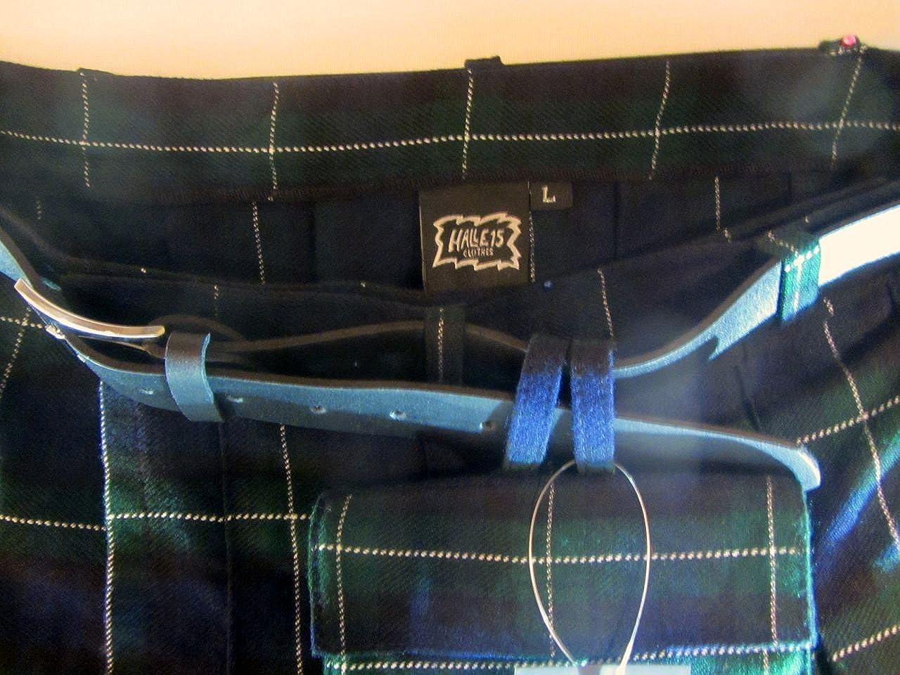 Halle 15 Clothes Schottenrock Kilt Tartan Rock Mittelalter Schottenrock 4 Farben:Rot Blau Dark Schwarz