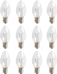 Ketofa 15 Watt Wax Melt Warmer Light Bulbs for Scentsy Plug-in Nightlight Warmer Wax,120 Volt Bulbs Fit for Household Lighting Displays ,Scentsy & Wax Warmers, Night Lights,15W E12 Bulbs-12 Packs