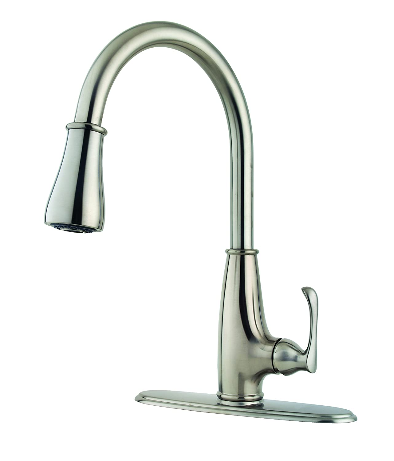 Pfister LF-529-7AYS Ainsley 1-Handle Pull-Down Kitchen Faucet with Soap  Dispenser in Stainless Steel, 1.8gpm - - Amazon.com