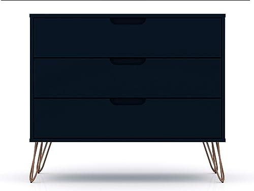 Manhattan Comfort Rockefeller Mid-Century Modern 3 Drawer Bedroom Dresser