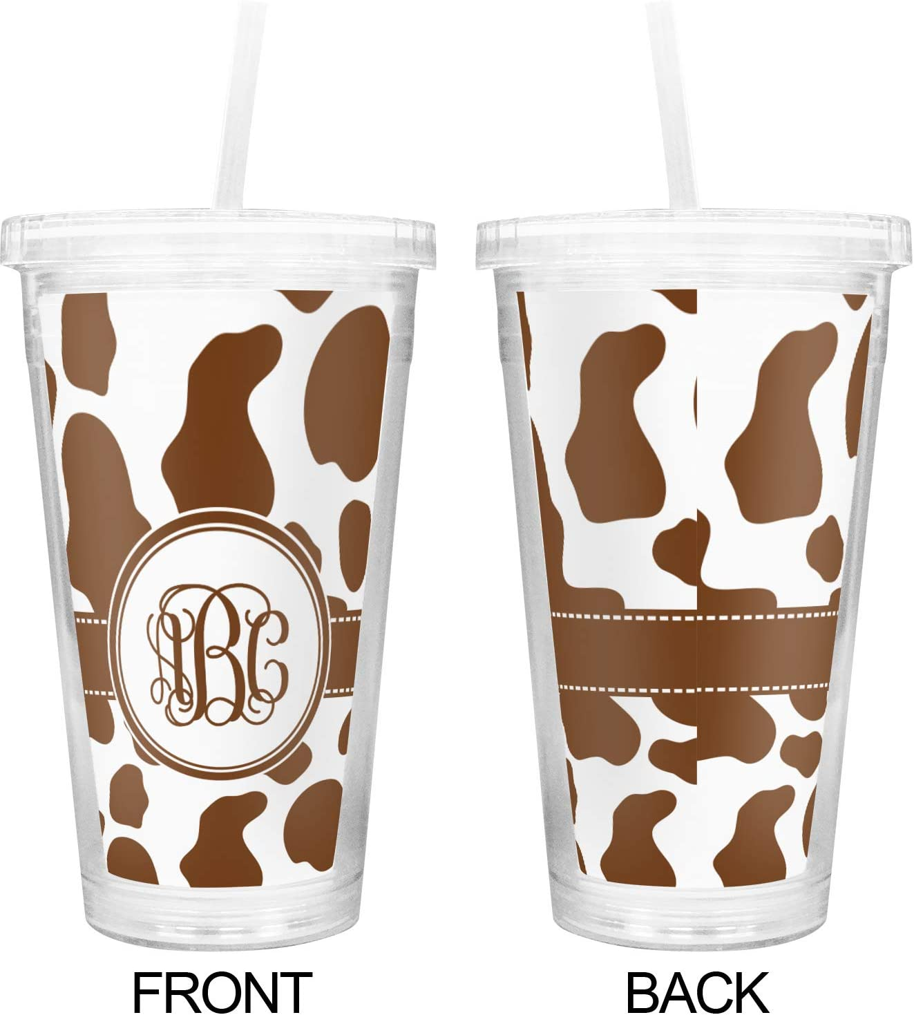 Tumbler with Straw Cow farm life Sublimation Tumbler Stainless Steel Tumbler Blue and Brown Crazy Heifer Tumbler Cups cow print