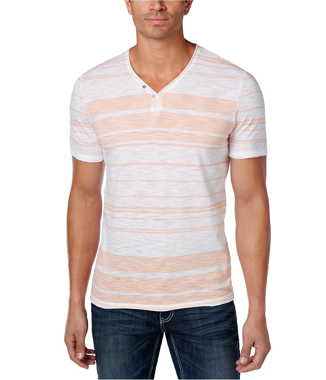 I-N-C Mens Textured Y-Neck Basic T-Shirt