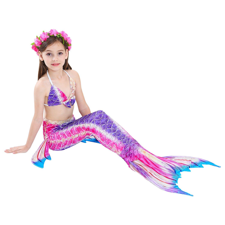 Euno Mermaid Tail Swimsuit Swimsuit Girl Swimsuit 4PCS