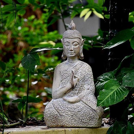 Estatuas para Jardín Adornos Estatua De Buda Sakyamuni Zen Jardín Esculturas Jardinería Big:29 * 19 * 53CM: Amazon.es: Hogar