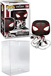 Spider-Man Miles Morales T.R.A.C.K. Track Suit Pop # 768 Marvel Gamerverse Vinyl Figure (Bundled with EcoTek Protector to Protect Display Box)