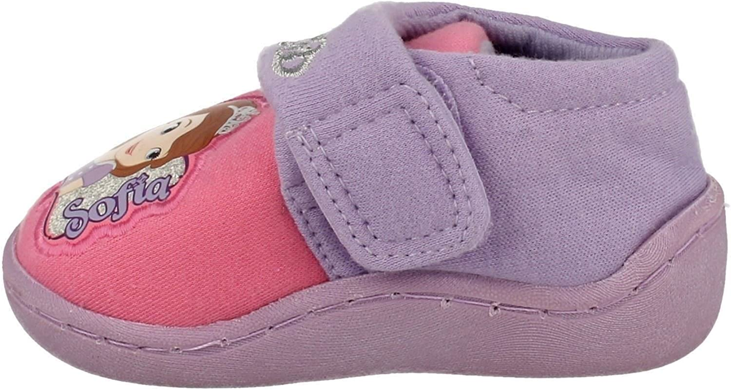 Disney Infant Girls Character Slippers Sofia The First Crown