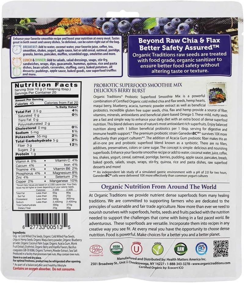 Amazon.com: Organic Traditions Probiótico mezcla de licuado ...