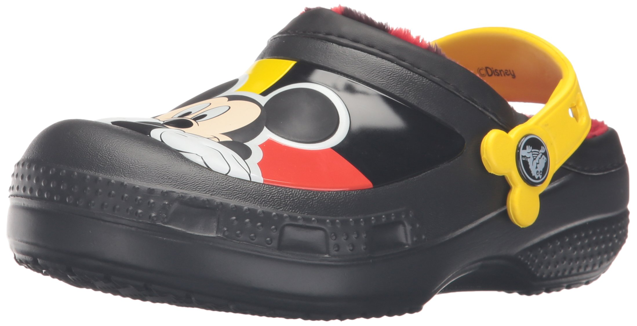 crocs CC Mickey Lined Clog (Toddler/Little Kid), Black, 10/11 M US Little Kid
