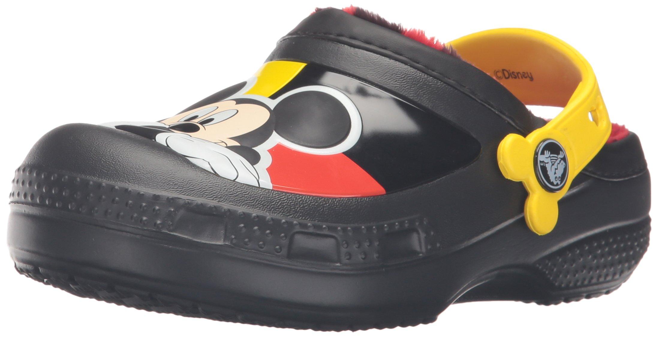 crocs CC Mickey Lined Clog (Toddler/Little Kid), Black, 1 M US Little Kid