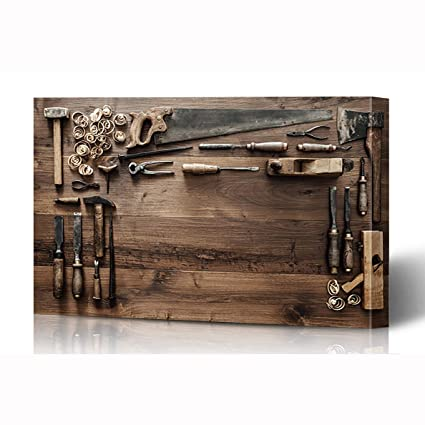 Pictures On Old Antique Wood Working Bench