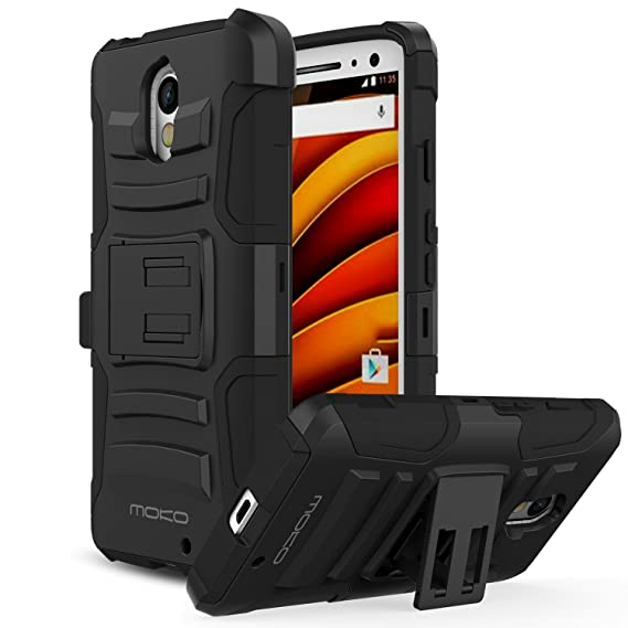 MoKo Motorola X Force Case [Heavy Duty] Full Body Rugged Holster Cover with Swivel Belt Clip: Amazon.es: Electrónica