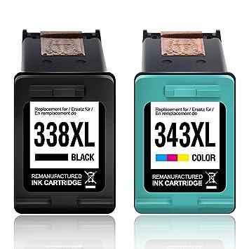 myCartridge 2 Compatibles HP 338XL 343XL Cartuchos para HP ...