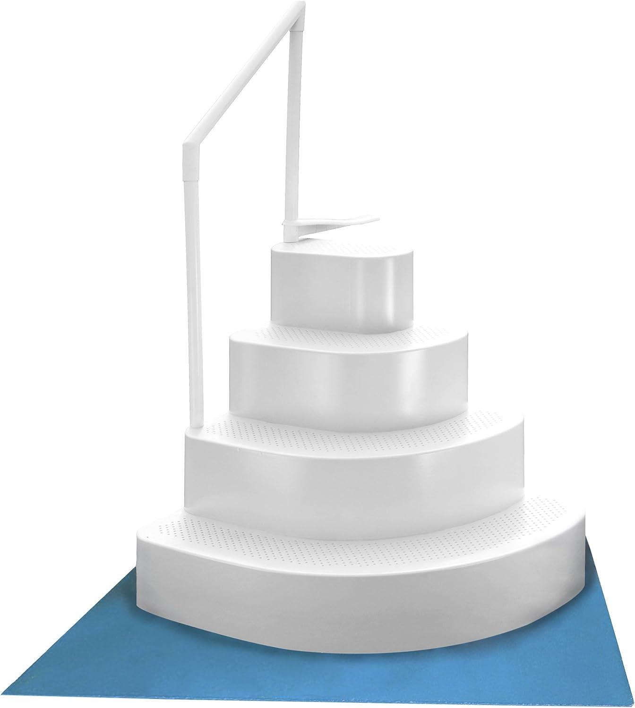 Blue Wave NE110WH Wedding Cake Above Ground Liner Pad Pool Step, White