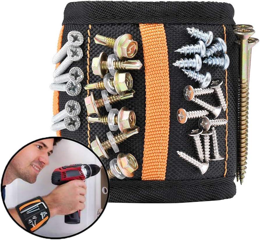 Magnetisches Armband Beutel Tasche Handgelenk Tasche Magnet Schraube Nägel E3G3