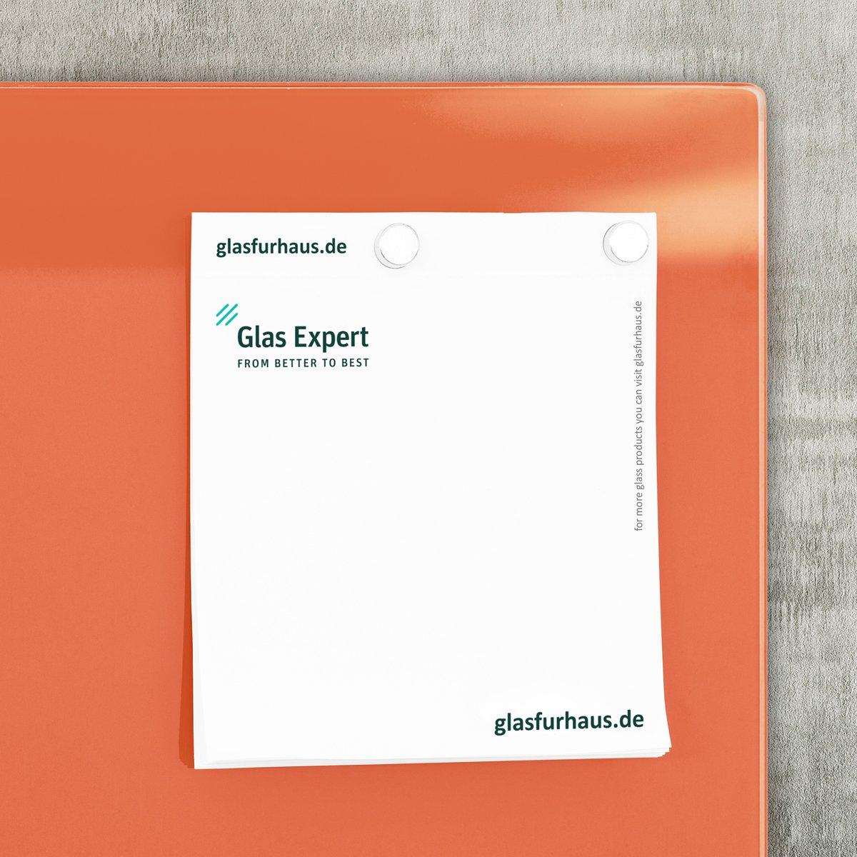 Memo Board Magn/étique Affichage | Tableau Magnetique en Verre Smart Glass Board /® Gris Affichage M/émo Aimant/é Glas Expert 78 x 48 cm 2 Aimants 1 Marqueur