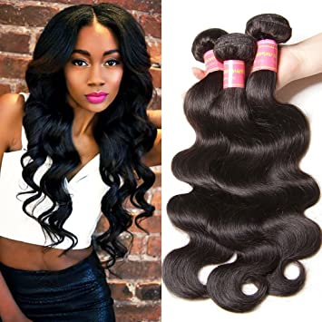 Amazon longqi beauty hair brazilian body wave virgin hair 12 longqi beauty hair brazilian body wave virgin hair 12 14 16inch 3 bundles unprocessed virgin brazilian pmusecretfo Image collections