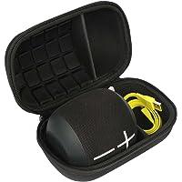 Pour Ultimate Ears UE WONDERBOOM Enceinte Bluetooth étanches EVA Dur Cas étui de Voyage Housse par Khanka (noir)