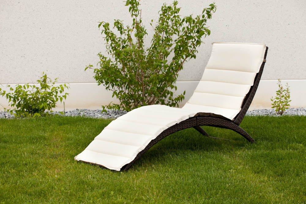 Gartenmoebel-einkauf Sonnenliege BELLARIA, BELLARIA, BELLARIA, Stahl + Polyrattan braun, mit Wendeauflage d91220