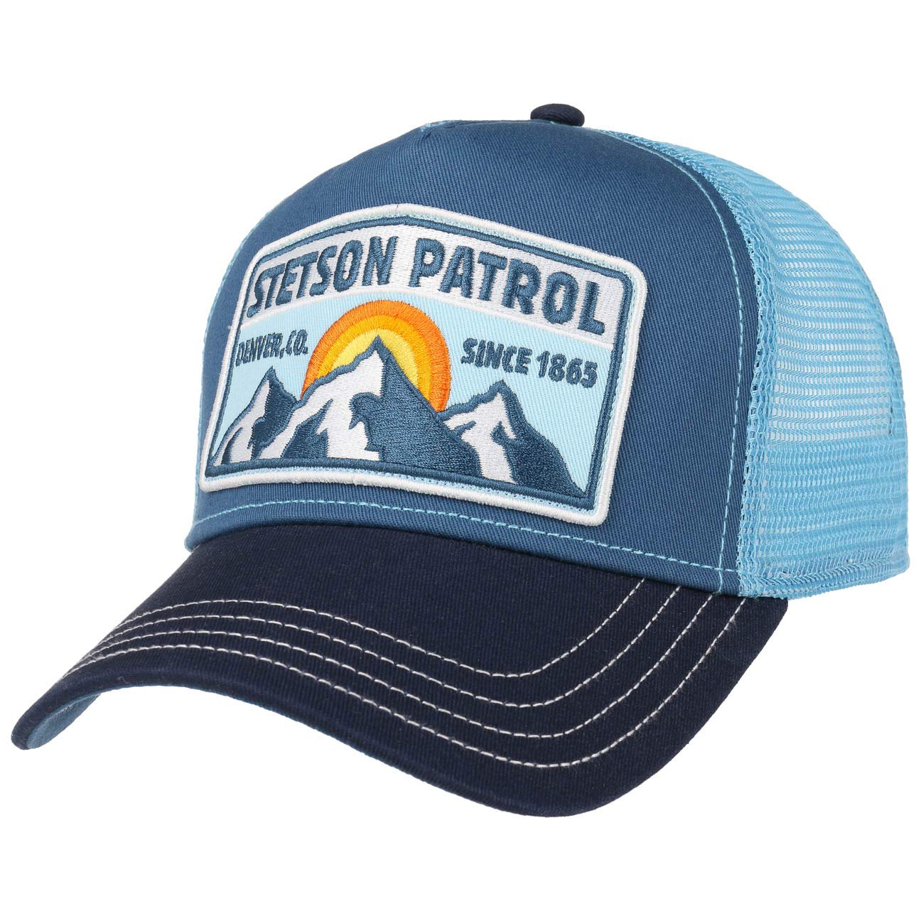 STETSON Highway Trucker Cap Basecap Baseballcap Meshcap Snapback Truckercap