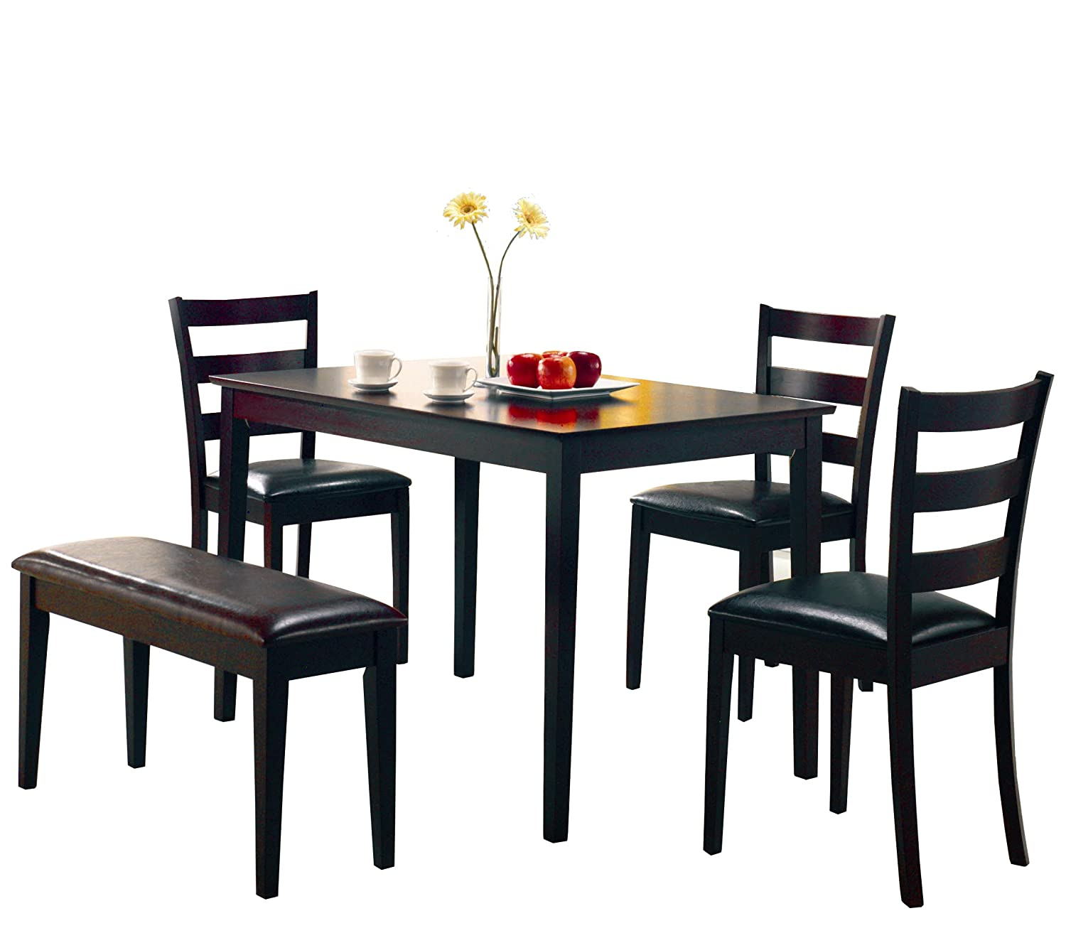 Kitchen Table And Chairs Amazoncom Table Chair Sets Home Kitchen