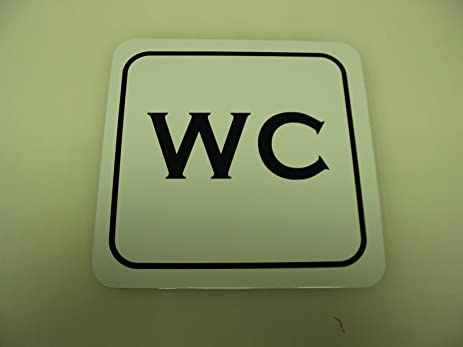 WC 6x6 Vintage Style Metal Sign Decor WATER CLOSET