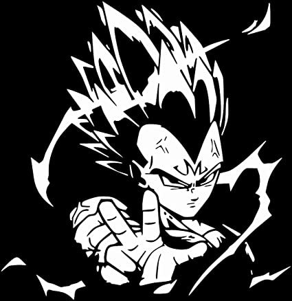Dragon ball z dbz vegeta anime decal sticker for car truck