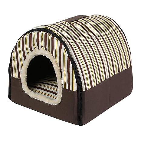 JohnJohnsen Cama Plegable Suave del Perro de Perrito del Gato Perrera de la casa Nido portátil