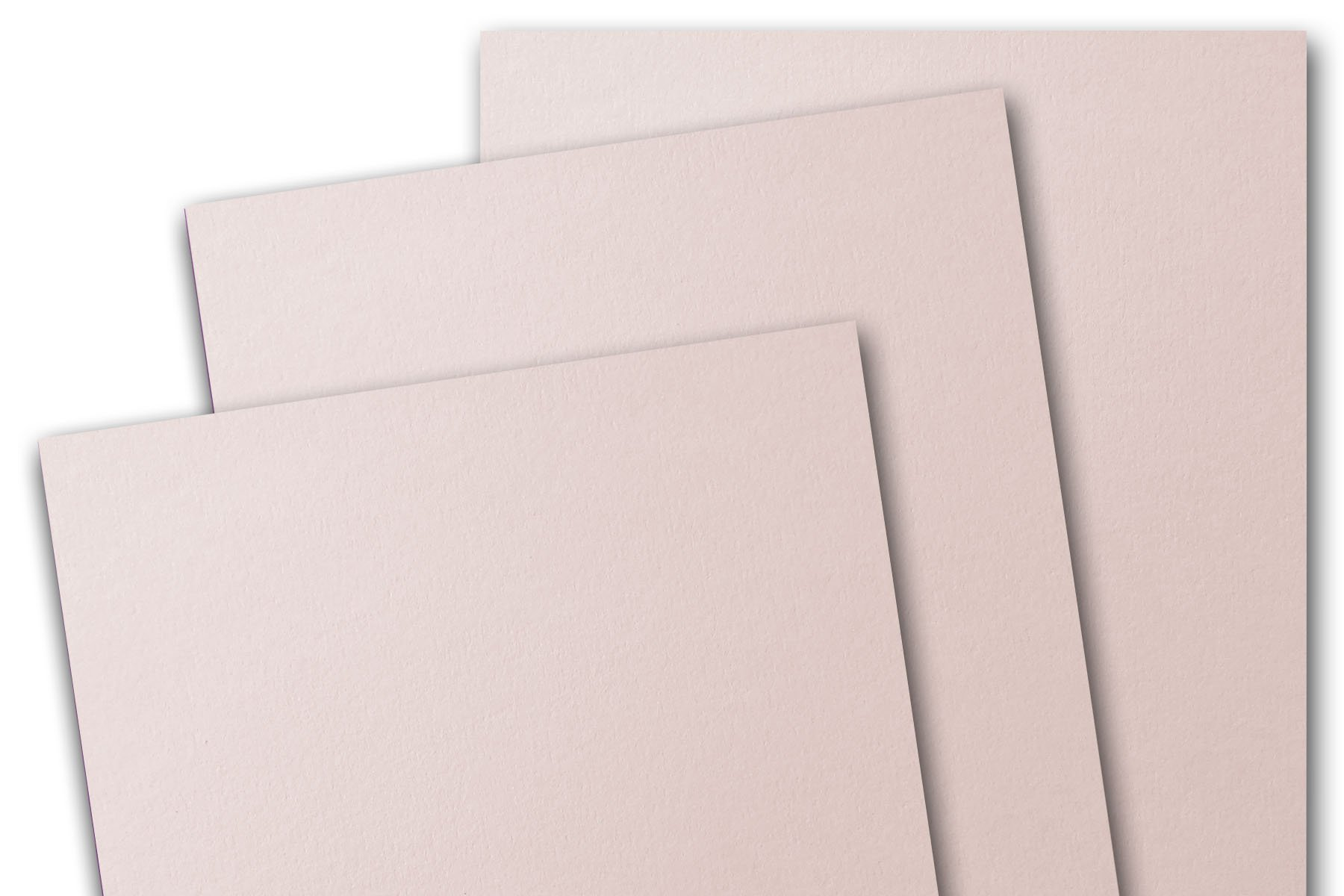 Blank Basic 8 1/2'' x 5 1/2'' inch Half Letter Matte 80# Cover Card Stock (100 Pack, Soft Pink)