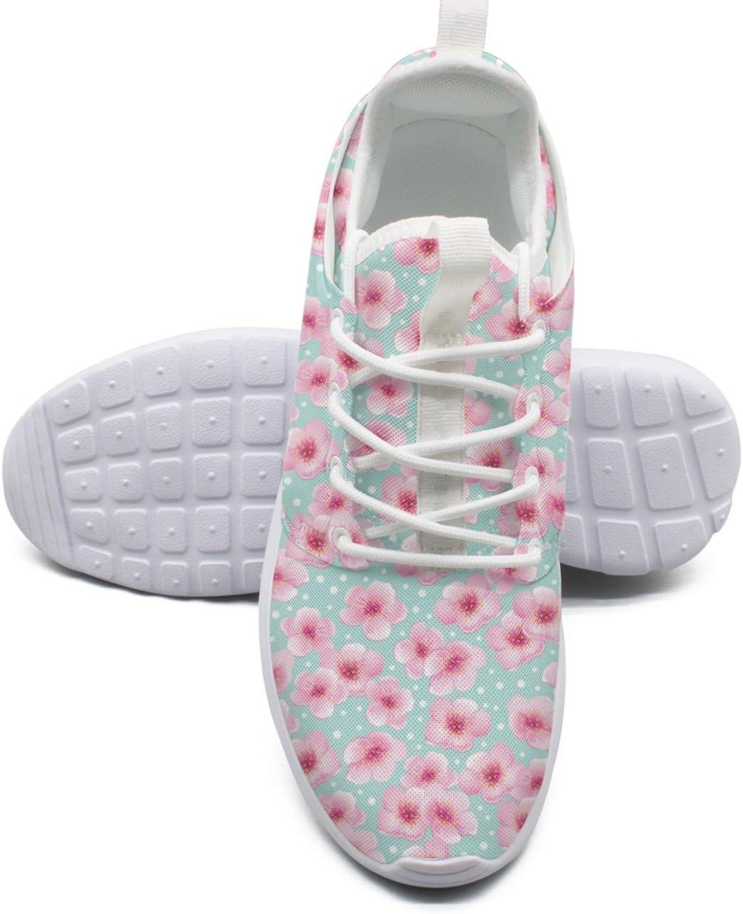 ERSER Zapatillas de correr para mujer con muelles pequeños y flor de cerezo de la marca: Amazon.es: Deportes y aire libre