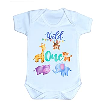 Wild One Birthday Shirt Safari Cake Smash Outfit Toddler Gift Kids Clothing Baby Girl 1St