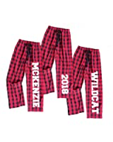 Footsteps Clothing Personalized Buffalo Plaid Red and Black Flannel Pants For Whole Family